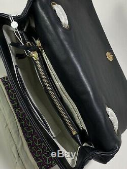 Nouveau Authentique Tory Burch Kira Chevron Quilted Convertible Noir Sac À Bandoulière