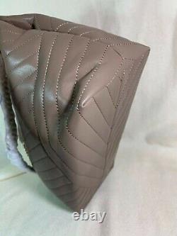 Nouveau Avec Tag Tory Burch Classic Taupe Kira Chevron Tote Retail 598 $