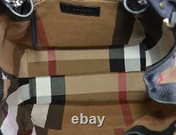 Nouveau Burberry $1,290 Black Leather Nova Check Large Maidstone Sac À Main Sac À Main