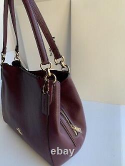 Nouveau Coach 80268 Hallie Boysen Berry Pebble Leather Shoulder Bag