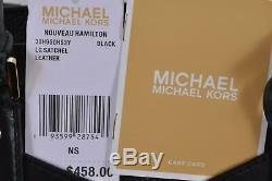 Nouveau Michael Kors 458 $ Nouveau Hamilton Grand Noir Clouté Besace En Cuir Porte-monnaie