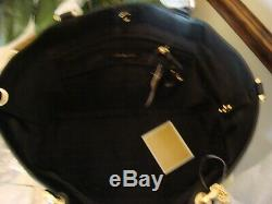 Nouveau Michael Kors Noir Brooklyn Sac Fourre-tout En Cuir Nwt 498 $