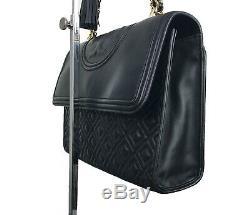 Nouvelle Étiquette Witho 500 $. Tory Burch Grand Fleming Sac Convertible Épaule. Noir
