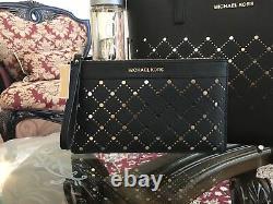 Nwt, Authentic Michael Kors Violet Leather Jstvl Sm Carryall Handbag+wallet600 $