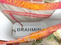 Nwt Brahmane Brayden Fruit De La Passion Melbourn Croc Embos Sac À Bandoulière En Cuir