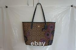 Nwt Coach 5697 City Tote In Signature Canvas With Kaffe Fassett Print 378 $