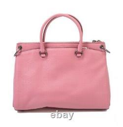 Nwt Coach Mia Satchel Classic Luxury Leather Pink Rose Black Antique F77884