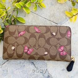 Nwt Coach Signature Papillons Galerie Tote Handbag+ Wallet Options
