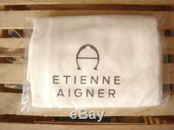 Nwt Etienne Aigner Irena Sand - Grand Sac Fourre-tout Hobo En Cuir Tissé Kaki $ 398