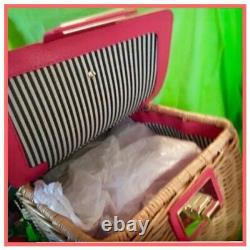 Nwt Kate Spade 3d Wicker Picnic Perfect Basket Strawberrybag Tote Authentic