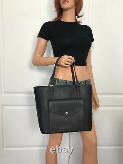 Nwt Michael Kors Black Item Large Saffiano Leather Tote Bag Sac À Main Nouveau