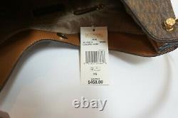 Nwt Michael Kors Joan Large Slouchy Epaule Hobo Sac Mk Signature Brown 458 $