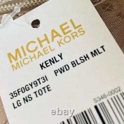 Nwt Michael Kors Kenly Lg Ns Signature Tote/ Double Zip Wallet Options Rose