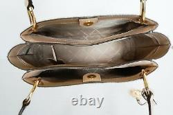 Nwt Michael Kors Nicole Large Pvc Leather Shoulder Tote Mk Vanilla/ballet