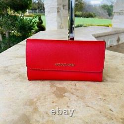 Nwt Michael Kors Signature Kenly Lg Ns Tote / Wallet Options Brwon / Flamme