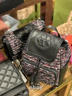Nwt Tory Burch Fleming Tweed Grand Sac À Dos Sac De Détail Limited Edition Pdsf 598 $
