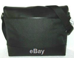 Nylon Noir Coach Hommes & Messenger Bag En Cuir Pour Ordinateur Portable Porte-documents F38741 Nwt 398 $