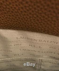 Ralph Lauren Grande Satchel Sac À Main / Bandoulière, Cuir Brun, Neuf Avec Des Étiquettes