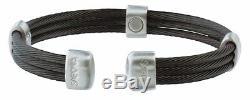 Sabona 365 Trio Par Câble En Satin Noir Bracelet Magnétique