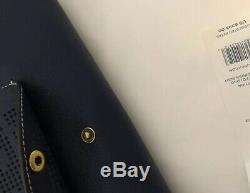 Sac Bandoulière En Cuir Perforé Avec Logo Perforé Et Logo Tory Burch, Tn-o. # 36812, Bleu Marine