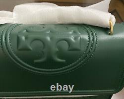 T.-n.-o. Burch Fleming Grand Sac D'épaule En Cuir Norwood Vert Authentique 500 $ +