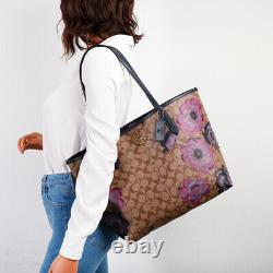 T.n.-o. Coach 5697 City Tote In Signature Canvas With Kaffe Fassett Print
