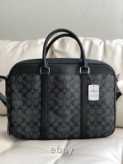 T.n.-o. Coach Porte-documents D'affaires En Pvc Mince, Signature Masculine F54803 Charcoal/black 495 $