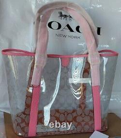T.n.-o. Coach Sac De Bac En Toile Transparent Sac De Bac 2564 Limonade Rose Champagne