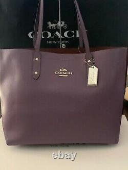 T.n.-o. Coach Town Tote Purse In Dusty Lavender Withsilver Hardware! 72673 398 $