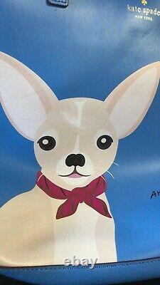 T.n.-o. Kate Spade Chihuahua Année Du Chien Hors Du Bureau Adventblue Tote Limit E