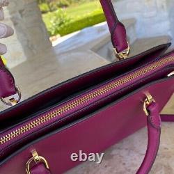 T.n.-o. Michael Kors Authentic Large Ellis Leather Satchel/wallet Magenta