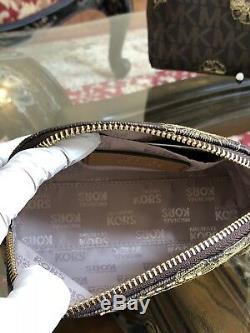 Tn-o, 4pcs Michael Kors Susannah Grand Ew & Handbag Wallet & Travel Pouch + Pom Pom