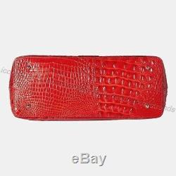 Tn-o Brahmane Athena Candy Apple Red Melbourne Cuir Embossé + Étui Fourre-tout