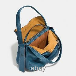 Tn-o Coach Bandit Hobo 39 Old Brass Foncé Denim Blue F86760 Pdsf 695 $