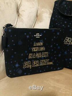 Tn-o Coach Disney Star Wars X Toile Sac Fourre-tout Sac F88038 Set F88648 Wristlet
