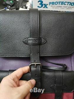 Tn-o Coach F76928 Hudson Sac À Dos Hommes En Violet Foncé Cuir Multi Pebbled