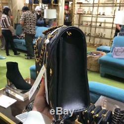 Tn-o Conservateur Burch Fleming Charm Farida Grand Sac À Bandoulière Rare Dubai Exclusif 578 $