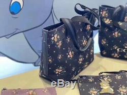 Tn-o Disney X Coach Sac Fourre-tout Avec Bouquet De Roses Imprimer Bambi-thumper Et Étiquette De Coup