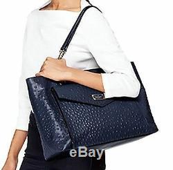 Tn-o Kate Spade A La Vita Autruche Halsey Shouder Sac Navy + 25% Pour La Prochaine