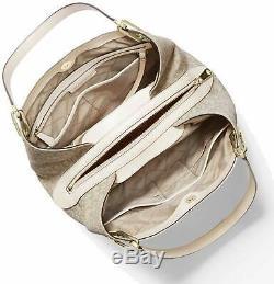 Tn-o Michael Kors Raven Grand Emballage D'épaule Mk Signature Crème Lumière Naturelle