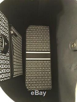 Tn-o Tory Burch Gemini Lien Pebbled Coated Toile Grand Sac Fourre-tout Sac À Main Noir