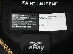 Tn-o Ysl Saint Laurent $ 2790lg Vicky Matelassée En Cuir Sac À Bandoulière Chaîne Bandoulière
