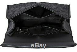 Tory Burch 39928-001 Fleming Noir Mat Convertable Femmes Sac À Main Nouveau