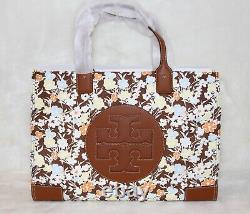 Tory Burch Ella Floral Imprimé Nylon Logo Tote Shopper Sac Sac À Main Purse T.n.-o.