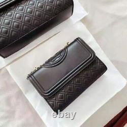 Tory Burch Grand Fleming Convertible Shoulder Bag Black Hot