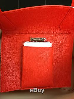 Tory Burch Grand Perry Fourre-tout (pebbled Cuir Coquelicot Rouge / Abricot 395 $) Tn-o