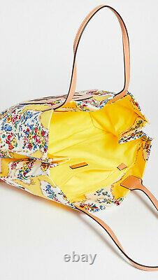 Tory Burch Nylon Imprimé Ella Tote Nwt Floral Yellow