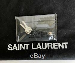 Yves Saint Laurent Noir Supple Sac En Cuir Grainé Grand Sac Fourre-tout De Jour Nouveau